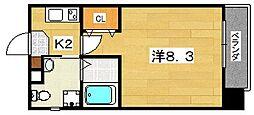 プラディオ交野[2階]の間取り