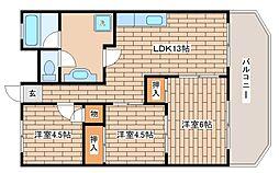 兵庫県神戸市東灘区深江浜町の賃貸マンションの間取り