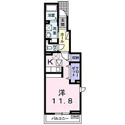 JR身延線 常永駅 徒歩24分の賃貸アパート 1階1Kの間取り