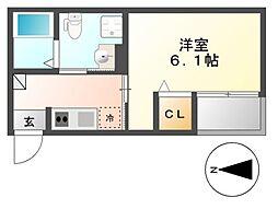 REVE今池(レーヴイマイケ)[3階]の間取り