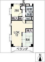 アビタシオン天子田[2階]の間取り