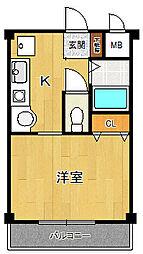 ル・エーベル潮江弐番館[102号室]の間取り