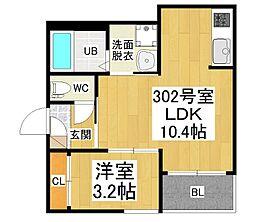 愛知県名古屋市西区名塚町5丁目の賃貸アパートの間取り