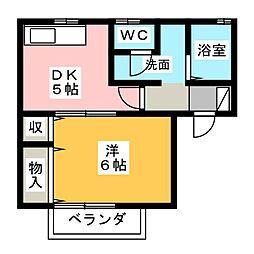 ファンテール[2階]の間取り