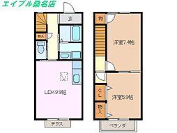 [テラスハウス] 三重県桑名市陽だまりの丘2丁目 の賃貸【/】の間取り