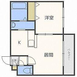 スカイコート麻生[2階]の間取り