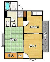 大阪府茨木市耳原3丁目の賃貸アパートの間取り