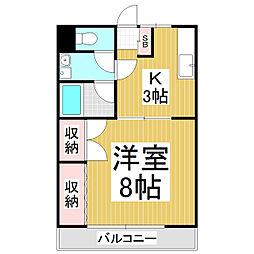 上原レヂデンス[2階]の間取り