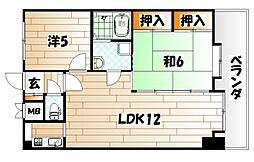 トーカンマンション小倉第2[10階]の間取り