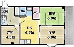 湊川マンション[3階]の間取り