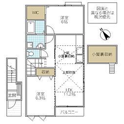 ヨットン・ハウス III[203号室号室]の間取り