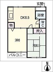 EAST COURT TODA[1階]の間取り