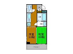 Osaka Metro長堀鶴見緑地線 ドーム前千代崎駅 徒歩4分の賃貸マンション 6階2Kの間取り