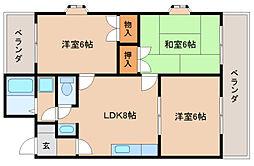 静岡県静岡市駿河区高松2丁目の賃貸マンションの間取り