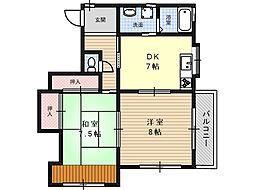 プチ城南[2階]の間取り