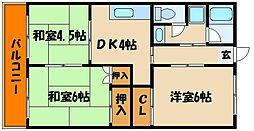 ふく美マンション[2階]の間取り