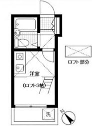 神奈川県横浜市磯子区岡村1丁目の賃貸アパートの間取り