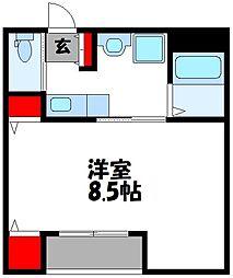 JR筑豊本線 新飯塚駅 3.3kmの賃貸アパート 1階1Kの間取り