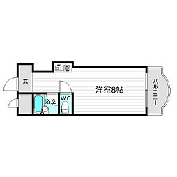 スカイ都島[2階]の間取り