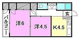 土居田ハイツ[4 号室号室]の間取り