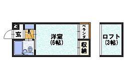 シャトー長岡[302号室]の間取り