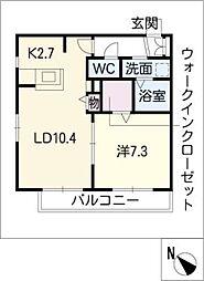 エクセル新宿[1階]の間取り