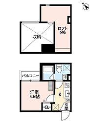 阪神本線 千船駅 徒歩9分の賃貸アパート 2階1Kの間取り