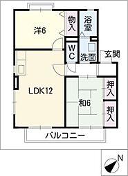 エトワールA棟[2階]の間取り