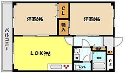 兵庫県神戸市東灘区御影本町7丁目の賃貸マンションの間取り