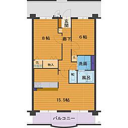 ハートフルマンションVilla Luna[3階]の間取り