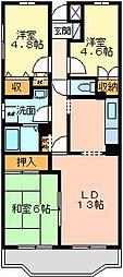 ガーデンビラ大宮[1階]の間取り