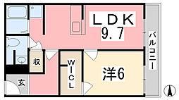 Rattan Appartmento II[303号室]の間取り
