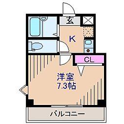神奈川県横浜市港北区篠原北2丁目の賃貸マンションの間取り