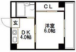 アイバレー新大阪[208号室]の間取り