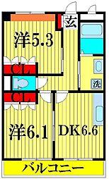 埼玉県川口市西立野の賃貸マンションの間取り