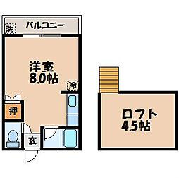 長崎県長崎市中新町の賃貸アパートの間取り
