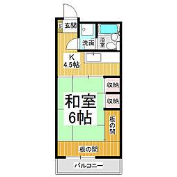 クーフナガノ[5階]の間取り