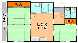 光安コーポ B[2階]の間取り
