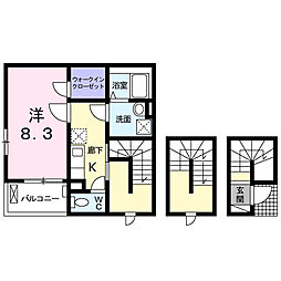 KKNI[3階]の間取り