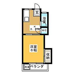 第4グリーンコーポ[1階]の間取り