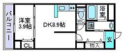 仮)上田辺マンション[1階]の間取り