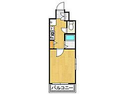 ラナップスクエア難波[2階]の間取り