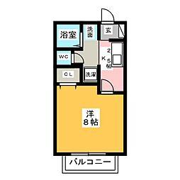 サン・friendsOKS[1階]の間取り