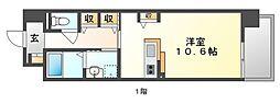 JR山陽本線 岡山駅 バス25分 新福下車 徒歩7分の賃貸マンション 2階1Kの間取り