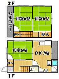 [タウンハウス] 兵庫県明石市明南町2丁目 の賃貸【兵庫県 / 明石市】の間取り