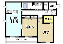 奈良県奈良市三条大路5丁目の賃貸マンションの間取り