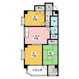 エスプラネードIII[1階]の間取り