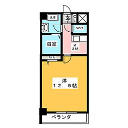 フラット12[2階]の間取り