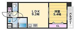 グランメゾンピア 7階1LDKの間取り