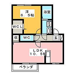 アメージング・フラッツC棟[1階]の間取り